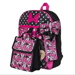 5 Piece Minnie Mouse Backpack Set